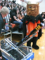 Gaelhawks Spread Pep With T-shirt Cannon!